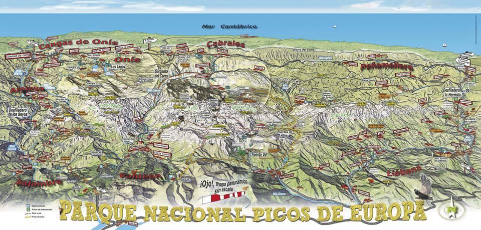 Mapa Asturias Y Cantabria.Leon Asturias Y Cantabria Se Unen Para Promocionar Picos De Europa