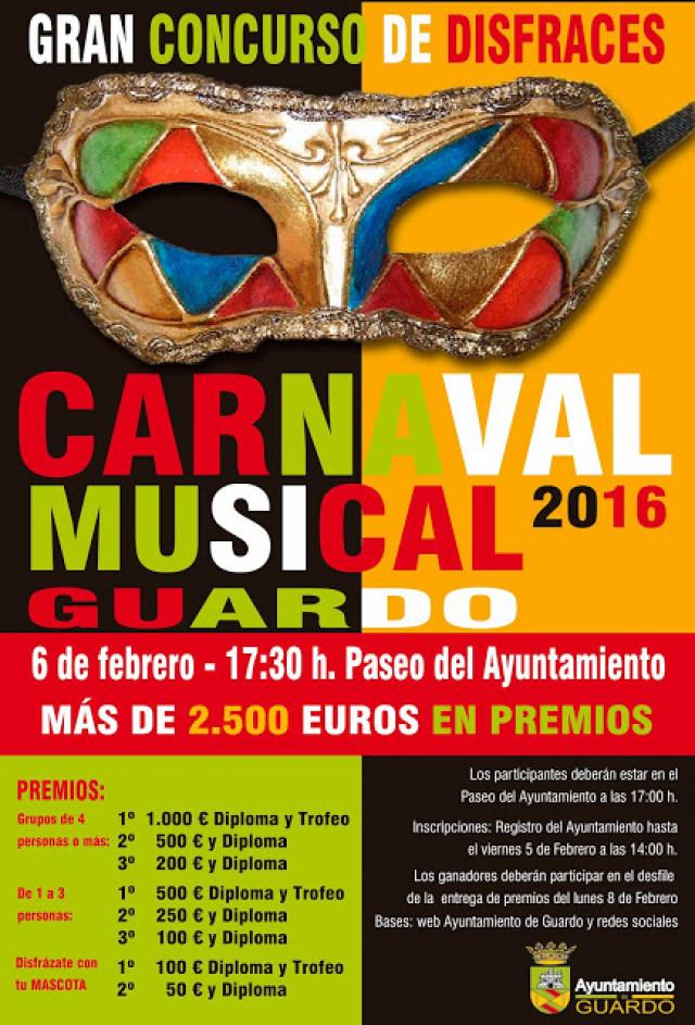 Carnaval de guardo 2016 del 6 al 8 de febrero for Concurso de docencia 2016