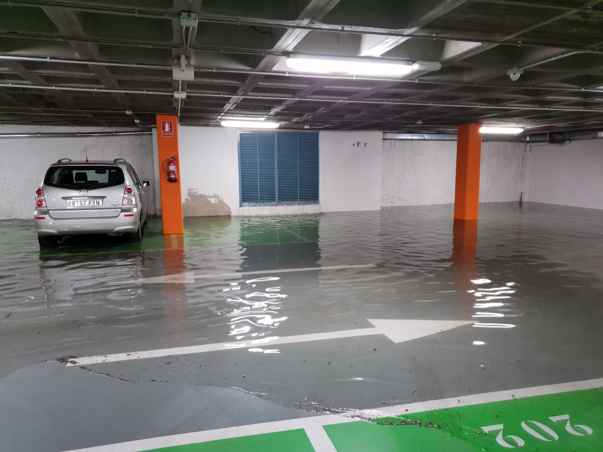 Tormenta parking plaza mayor leon ddv 2
