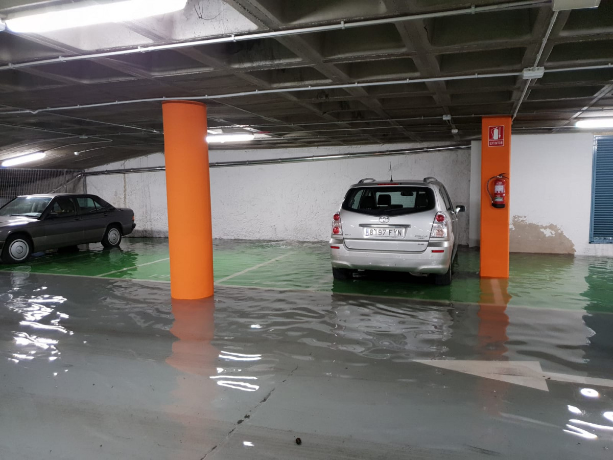 Tormenta parking plaza mayor leon ddv 4